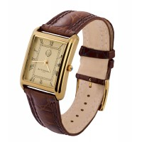 Vermeil Rectangle Unisex Watch
