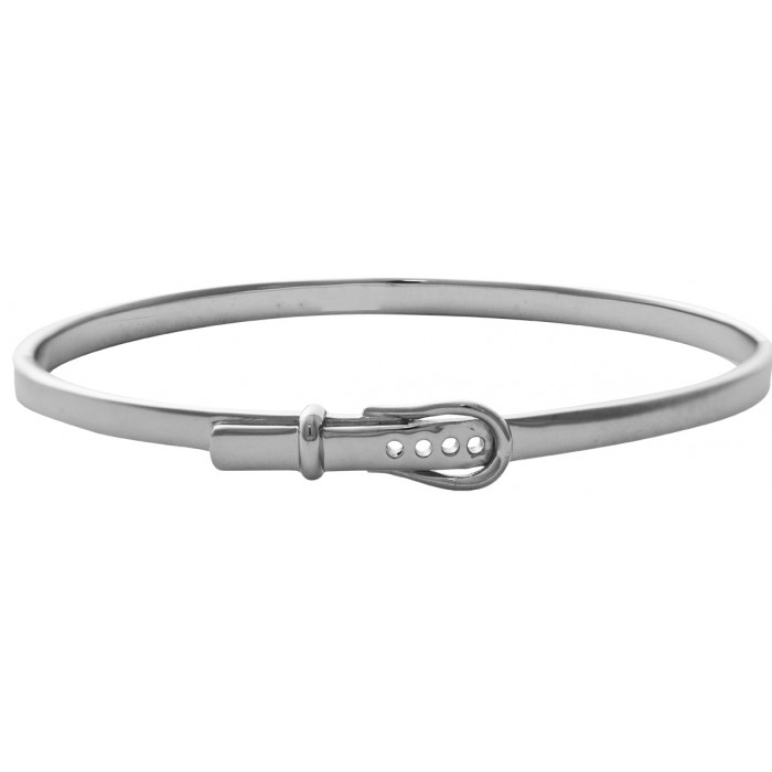 Sterling Silver Equestrian Strap Bangle