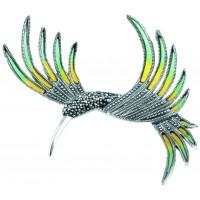 Marcasite Hummingbird Brooch