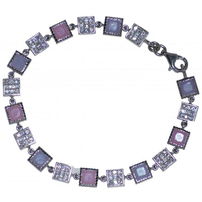 Sterling Silver Marcasite Enamal Bracelet