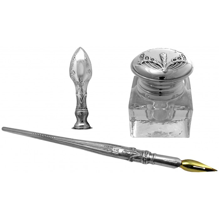 Sterling Silver Victorian Writing Set