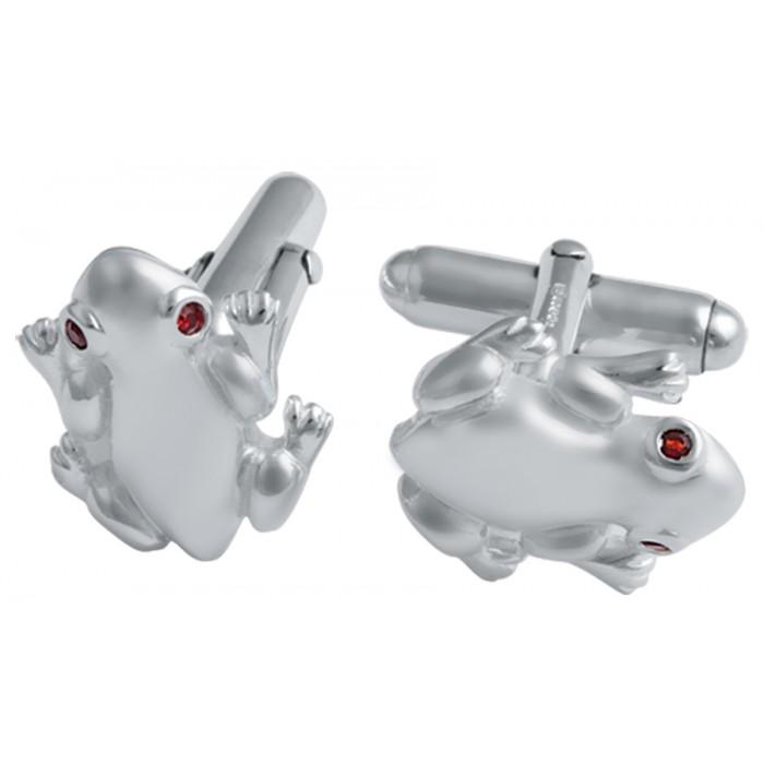 Sterling Silver Frog Cufflinks