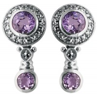 Marcasite Amethyst Earrings