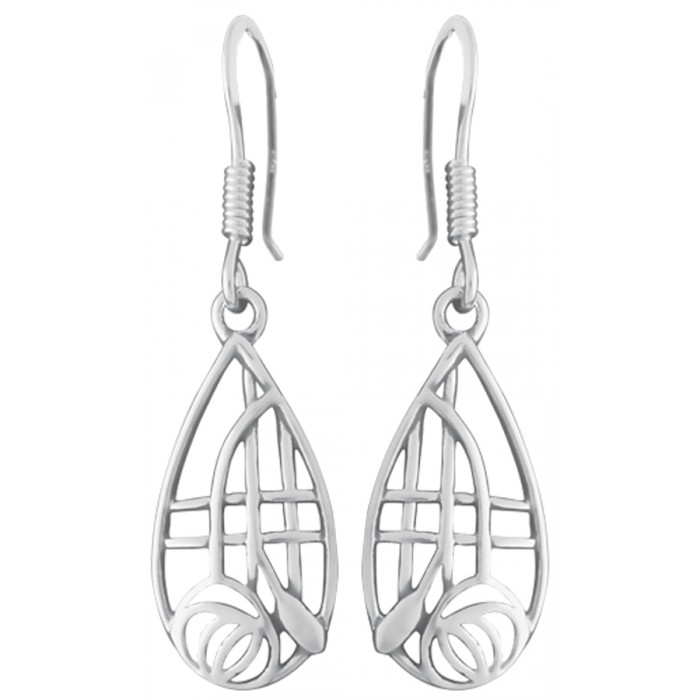 Sterling Silver Mackintosh Style Earrings