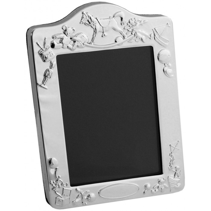 Sterling Silver Baby Photo Frame With Velvet Back