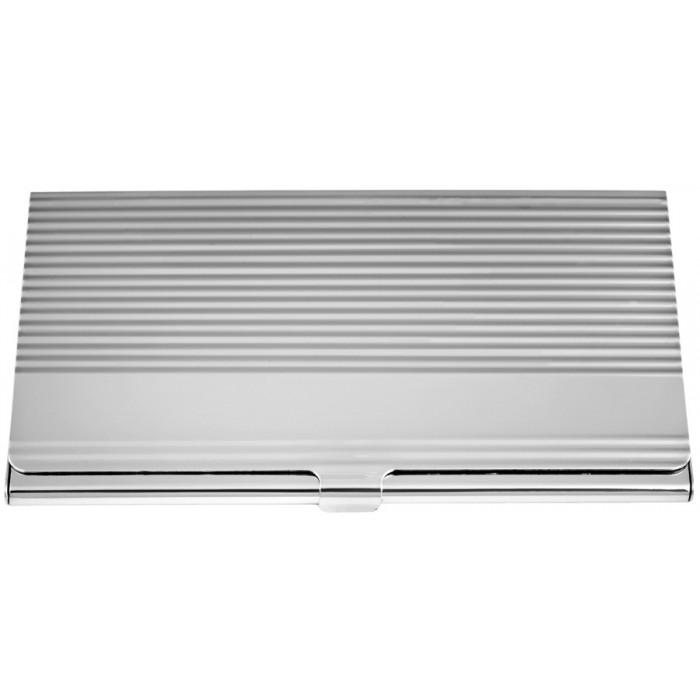 Sterling Silver Striped Card Case