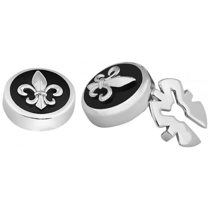 Silver Button Covers Fluer De Lys