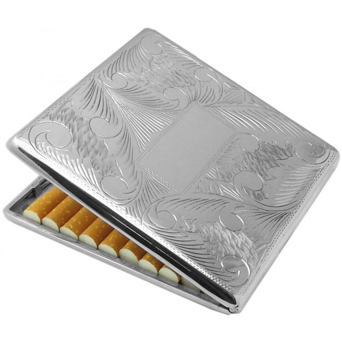 Sterling Silver Engraved Cigarette Case