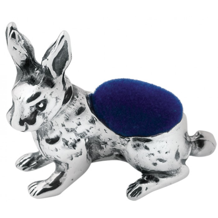 Sterling Silver Rabbit Pin Cushion