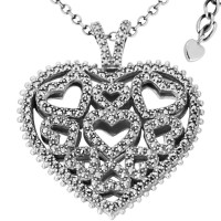 Marcasite Heart Necklace