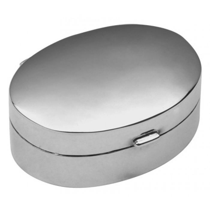 Small Plain Oval Hinged Pillbox