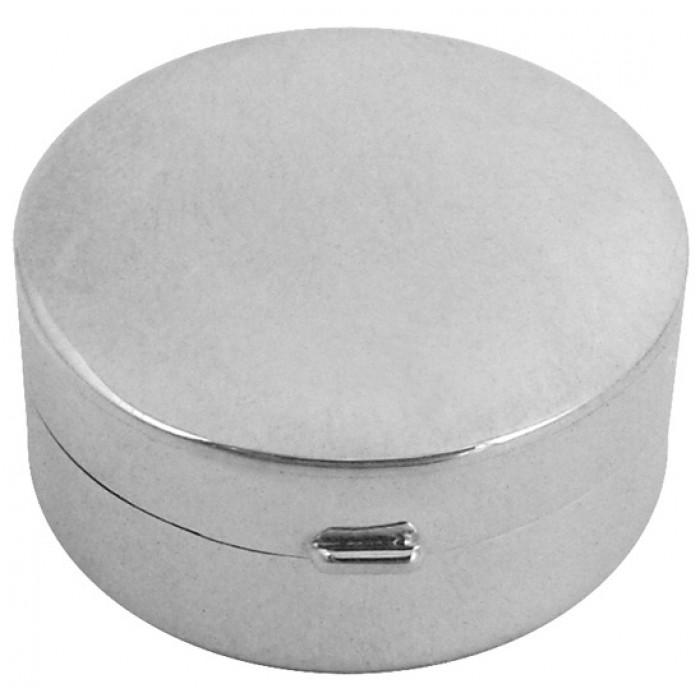 Small Plain Round Hinged Pillbox