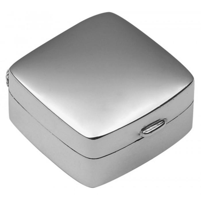 Small Plain Square Hinged Pillbox