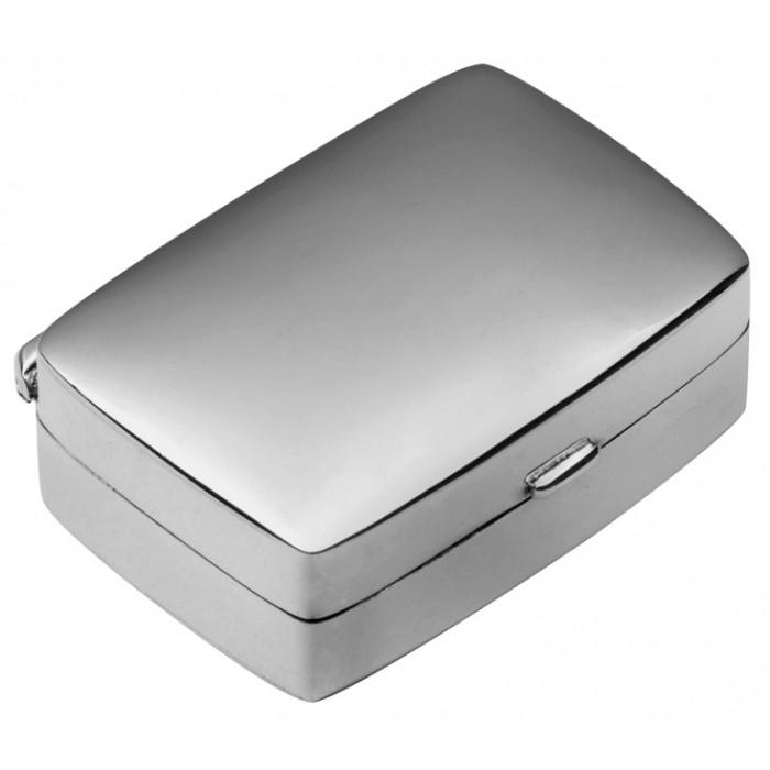 Small Plain Rectangular Hinged Pillbox