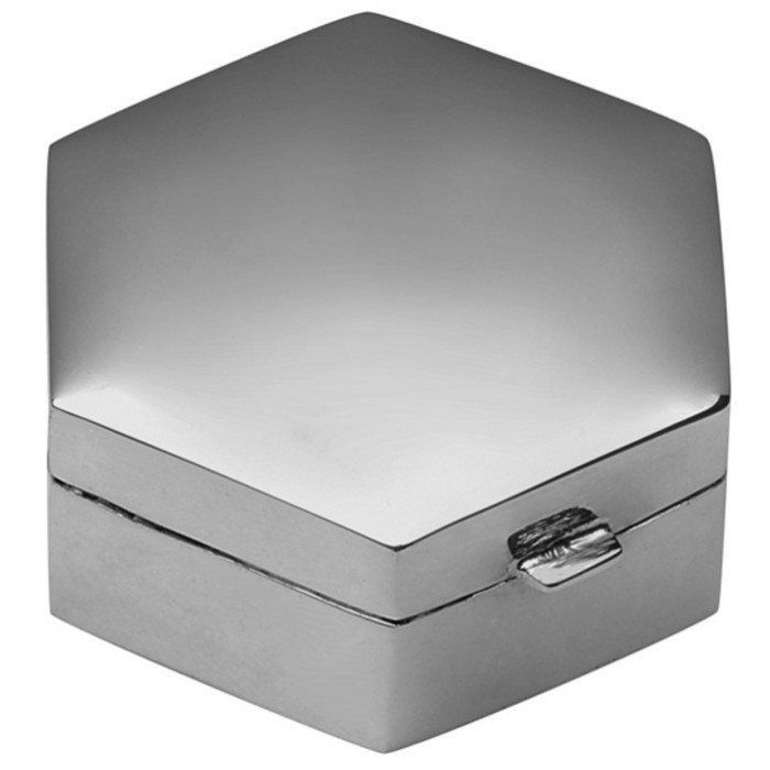 Medium Plain Hexagon Hinged Pillbox