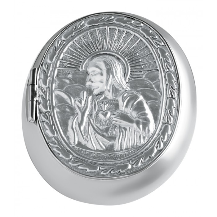 Sterling Silver Embossed Rosary Bead Case