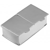 2 Piece Rectangle Plain Pill Box