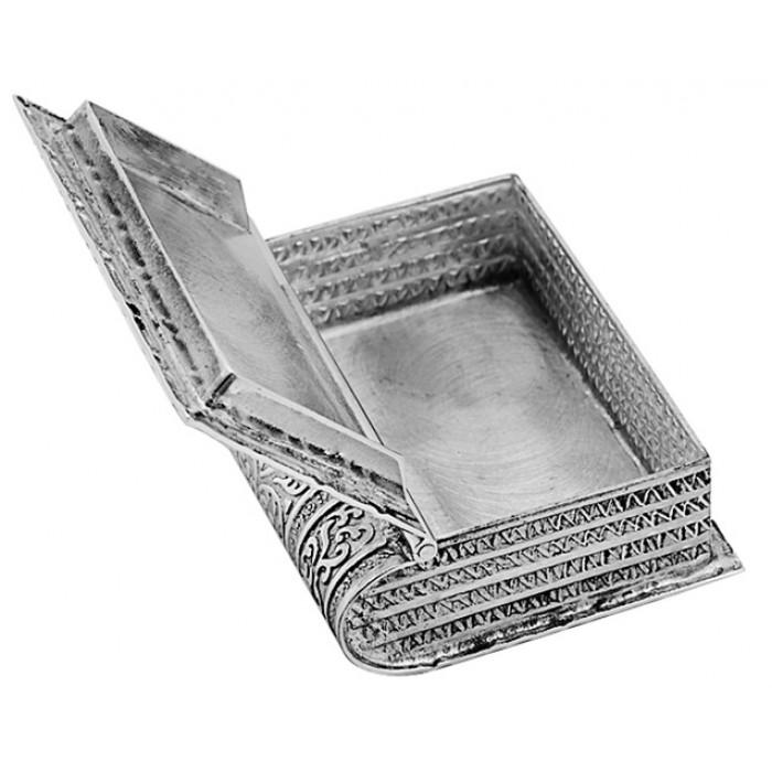 Sterling Silver Book Pill Box