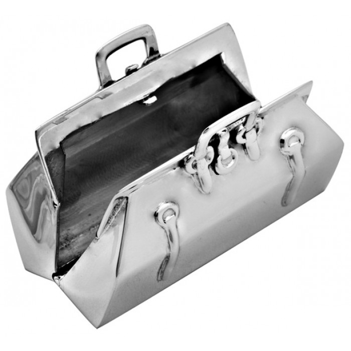 Sterling Silver Doctors Bag Pill Box