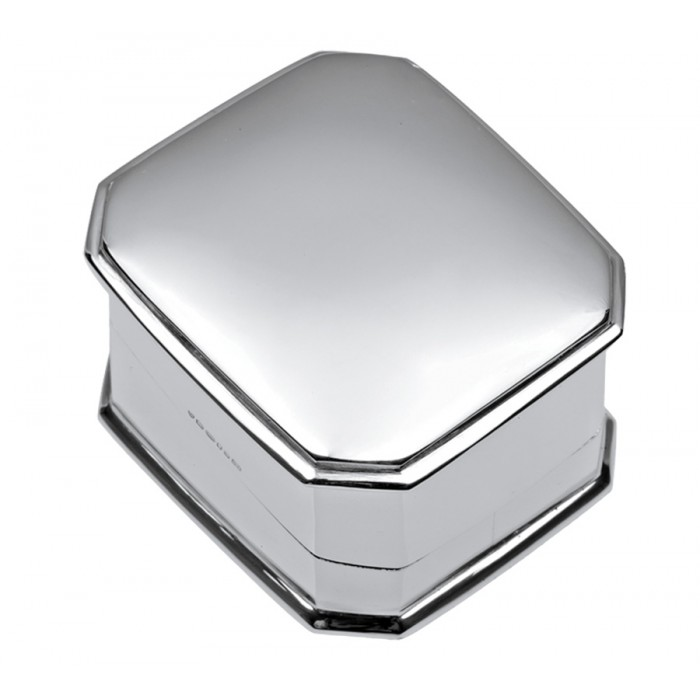 Sterling Silver Plain Square Ring Box