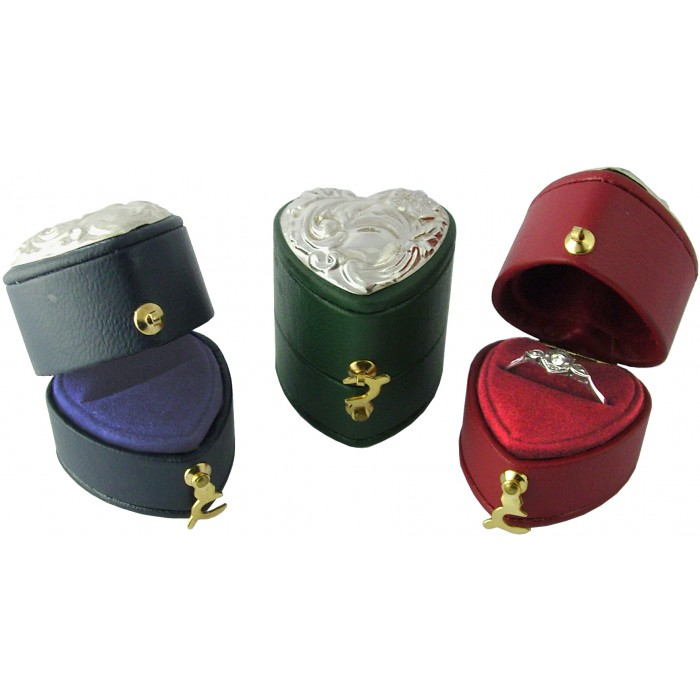 Sterling Silver Hearts Ring Box