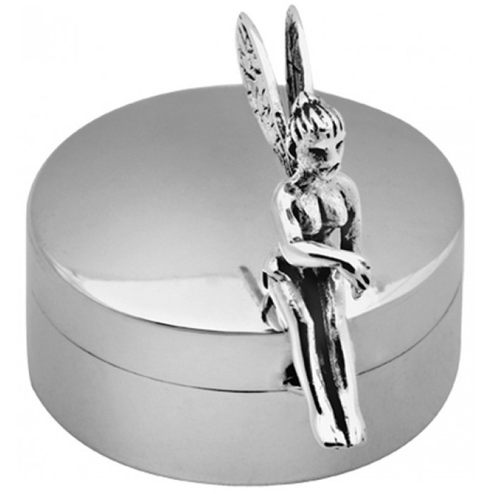 Sterling Silver Fairy Pillbox