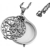 Magnifying Glass Pendant On Chain