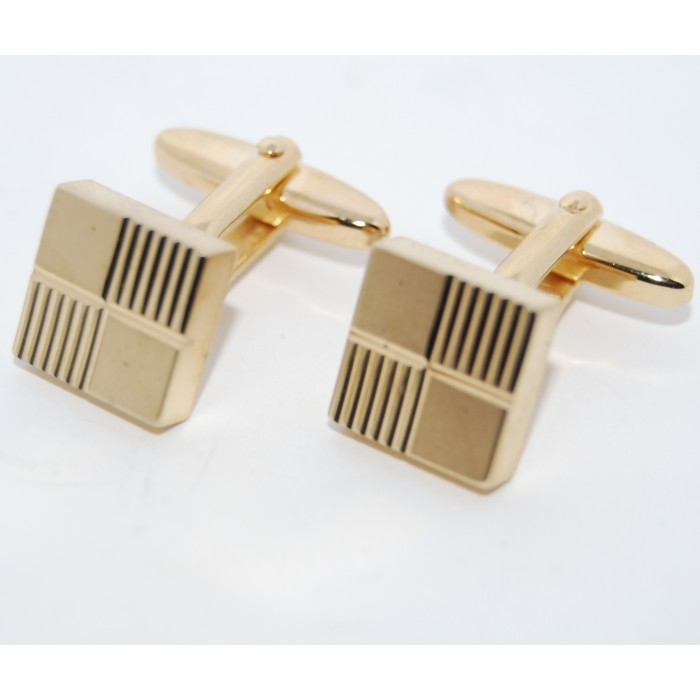 Gold Plated Cubes Cufflinks