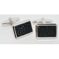 Black Stone Rectangle Cufflinks
