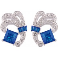 Blue And White Crystal Exquisite Earrings