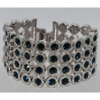 Blue Crystal Linked Exquisite Bracelet