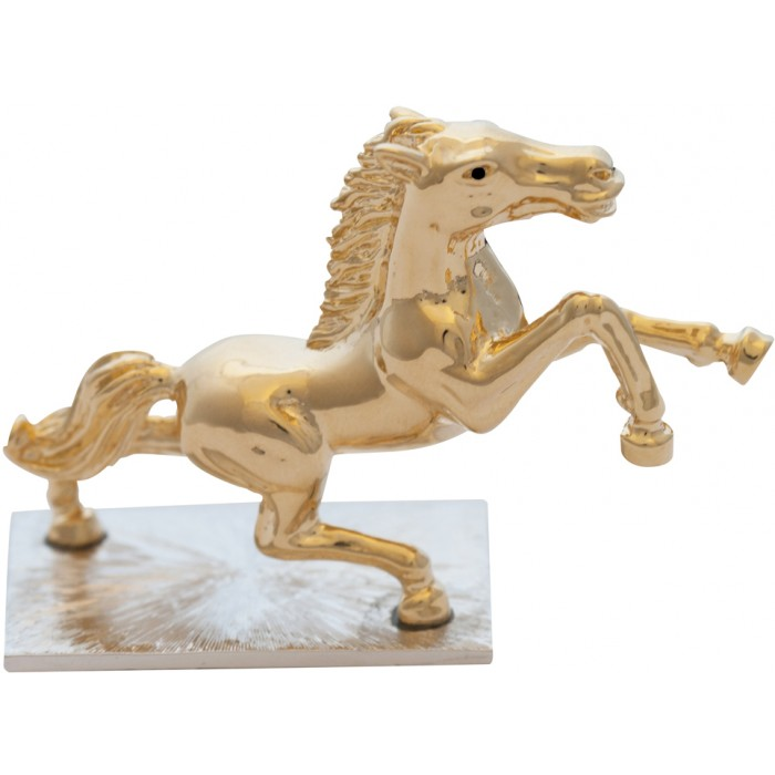 Gold Plated Horse Equestrian Figurine