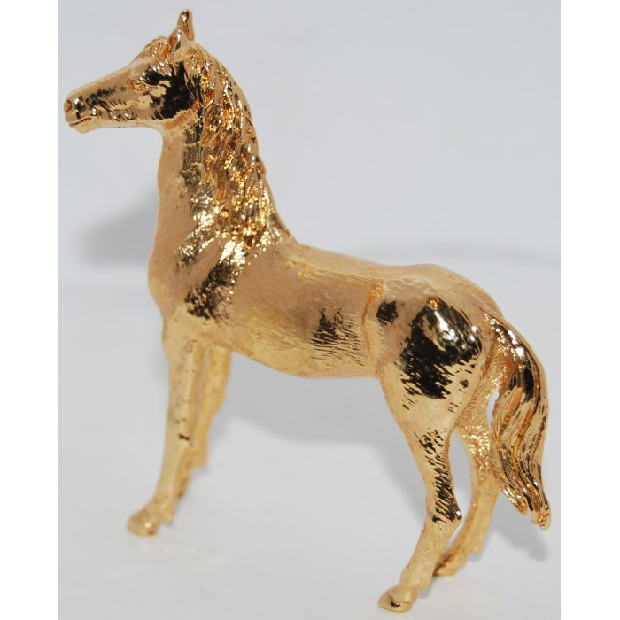 Gold Plated Horse Figurine