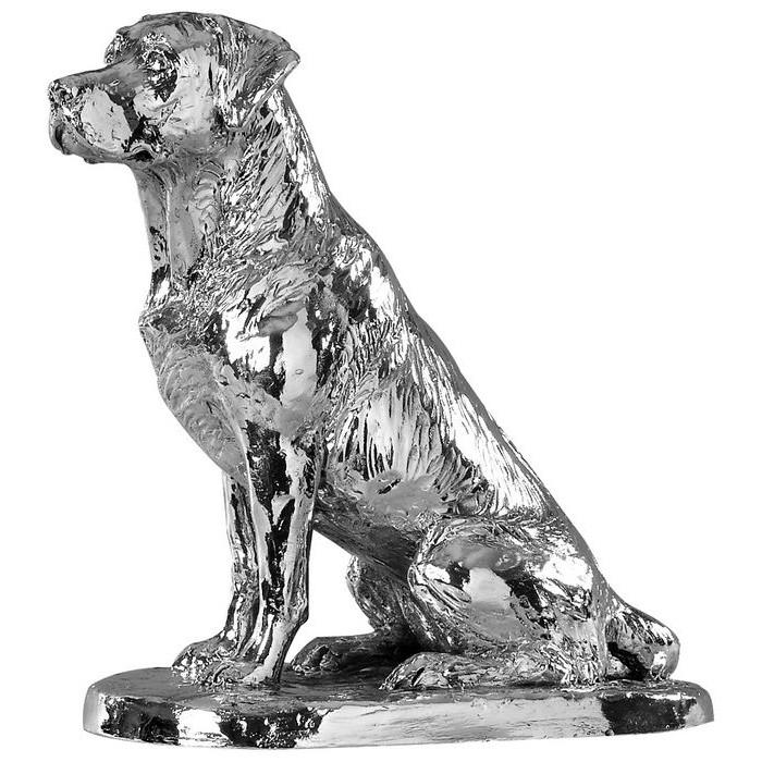 Sterling Silver Sitting Labrador Statue
