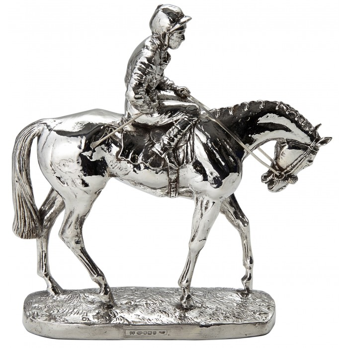 Sterling Silver Horse On Parade Large Statue