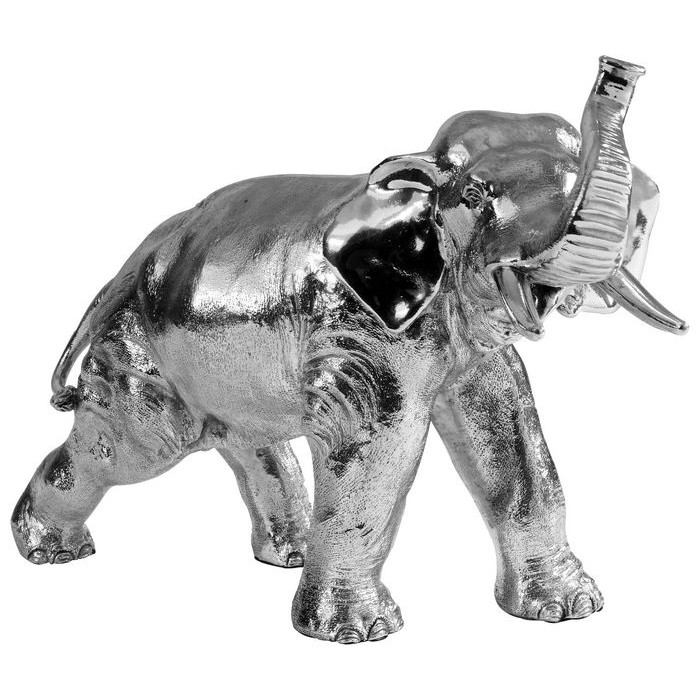 Sterling Silver Bull Elephant Statue