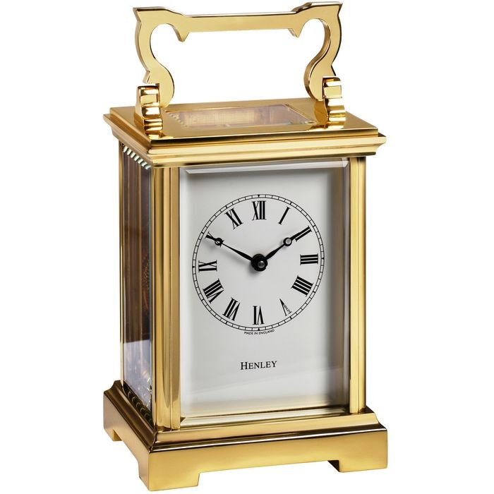 Henley Angalaise English Carriage Clock Gold Plated