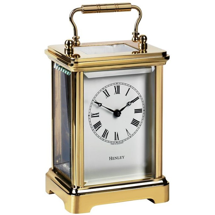 Henley Obis English Carriage Clock Gold Plated