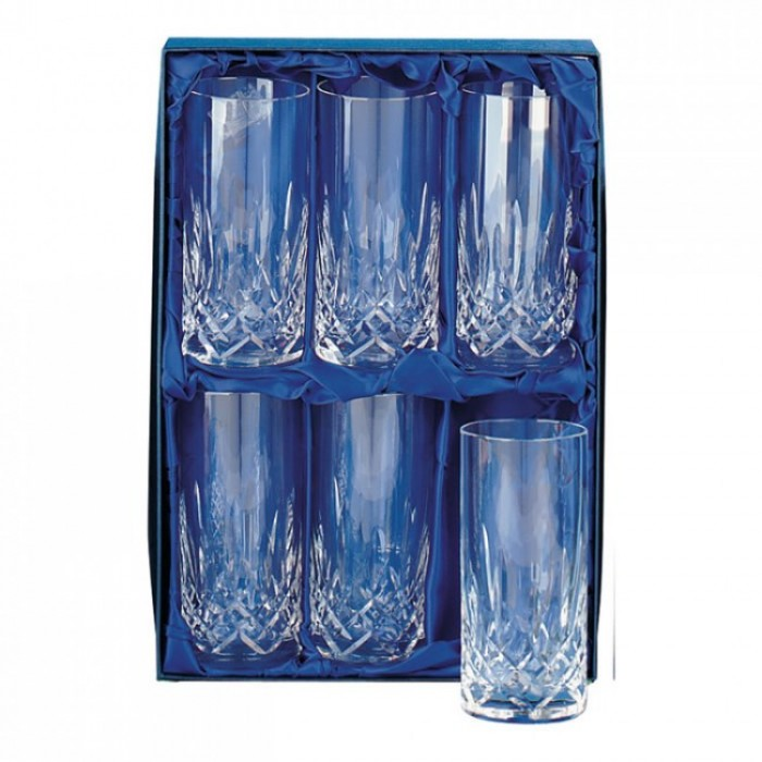 Lead Crystal Gin And Tonic Set of Six Glasses