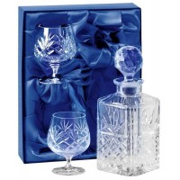 Decanter And Two Glass Brandy Set