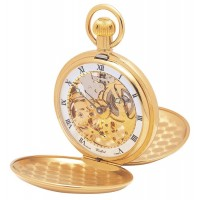 Gold Plated Swiss Made Pocket Watch Full And Chain
