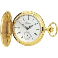 Gold Plated Swiss Made Pocket Watch With Chain