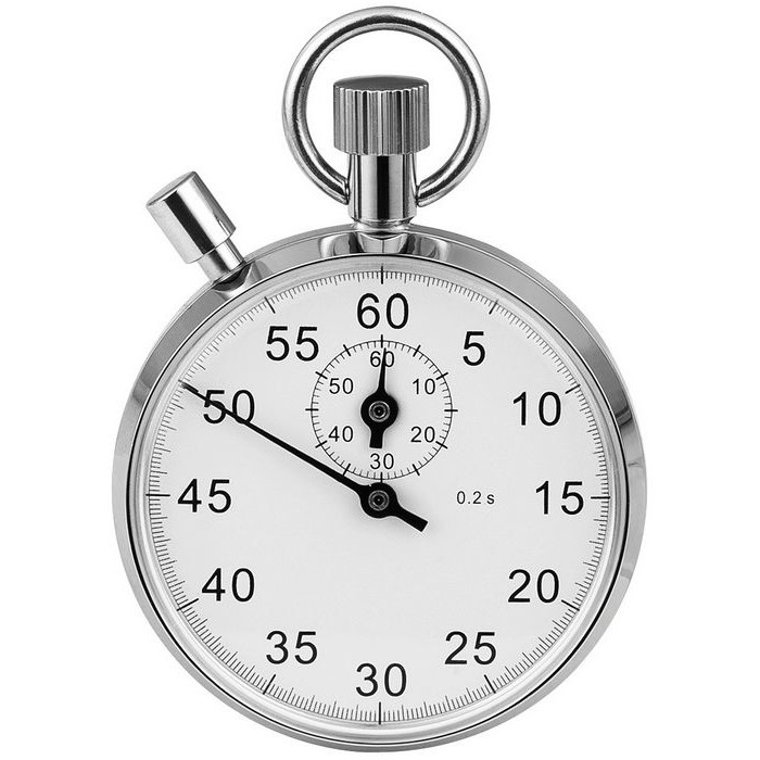 Chrome Plated Stop Watch Mechanical Movement