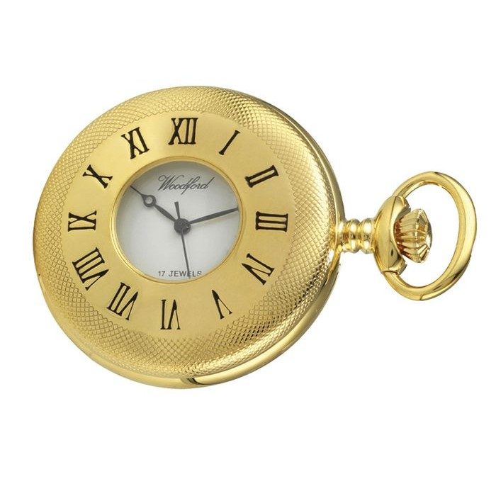 Gold Plated Pocket Watch With Watch Chain