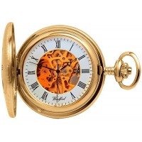 Gold Plated Pocket Watch With Chain