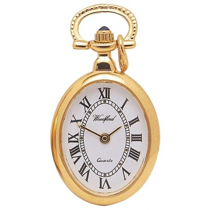 Gold Plated Ladies Pendant Necklace Watch Quartz
