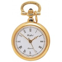 Gold Plated Ladies Pendant Watch On Chain