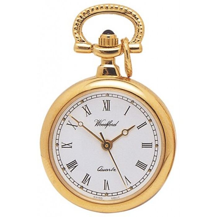 Gold Plated Ladies Pendant Necklace Watch Quartz