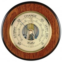 Oak Wood Barometer