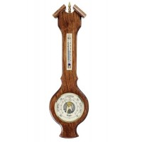Oak Wood Solid Oak Barometer And Thermometer